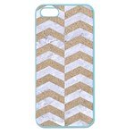 CHEVRON2 WHITE MARBLE & SAND Apple Seamless iPhone 5 Case (Color) Front