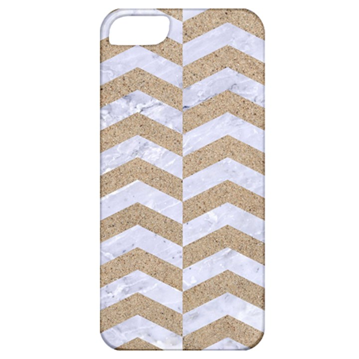 CHEVRON2 WHITE MARBLE & SAND Apple iPhone 5 Classic Hardshell Case