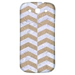 CHEVRON2 WHITE MARBLE & SAND Samsung Galaxy S3 S III Classic Hardshell Back Case Front