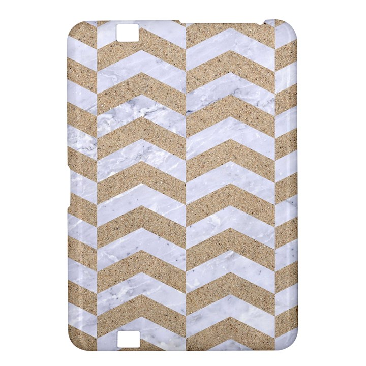 CHEVRON2 WHITE MARBLE & SAND Kindle Fire HD 8.9