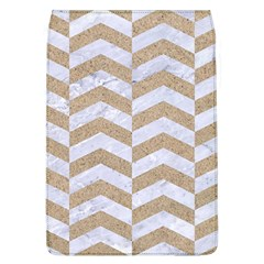 Chevron2 White Marble & Sand Flap Covers (l)