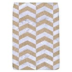 CHEVRON2 WHITE MARBLE & SAND Flap Covers (L)  Front