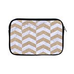 CHEVRON2 WHITE MARBLE & SAND Apple iPad Mini Zipper Cases Front