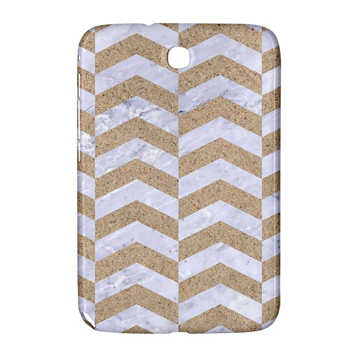 CHEVRON2 WHITE MARBLE & SAND Samsung Galaxy Note 8.0 N5100 Hardshell Case