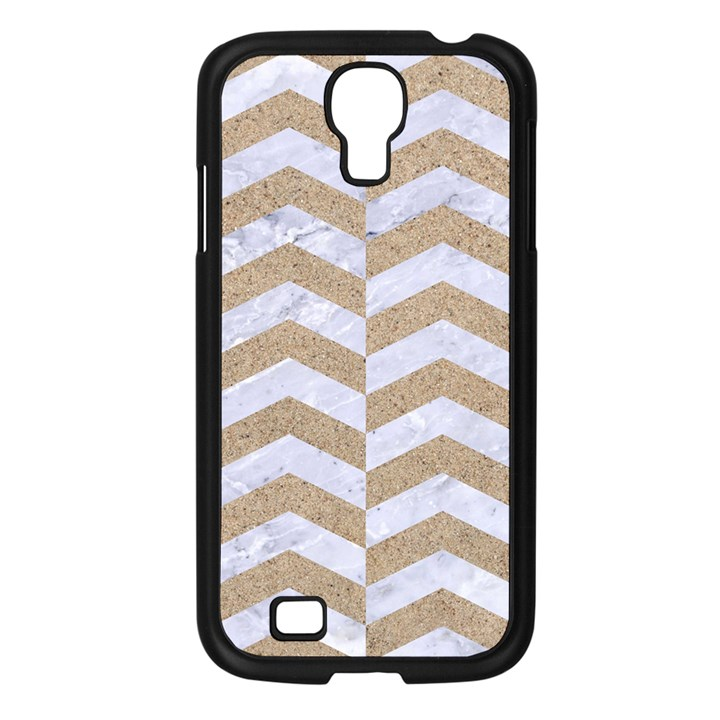 CHEVRON2 WHITE MARBLE & SAND Samsung Galaxy S4 I9500/ I9505 Case (Black)