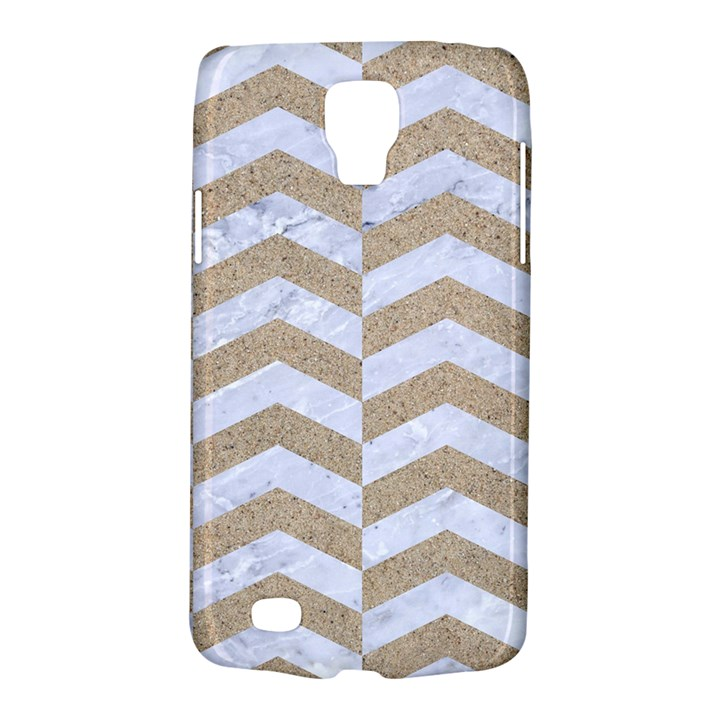 CHEVRON2 WHITE MARBLE & SAND Galaxy S4 Active
