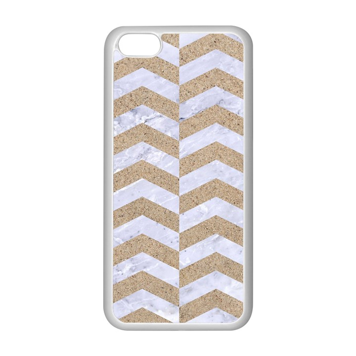 CHEVRON2 WHITE MARBLE & SAND Apple iPhone 5C Seamless Case (White)