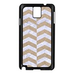 CHEVRON2 WHITE MARBLE & SAND Samsung Galaxy Note 3 N9005 Case (Black) Front