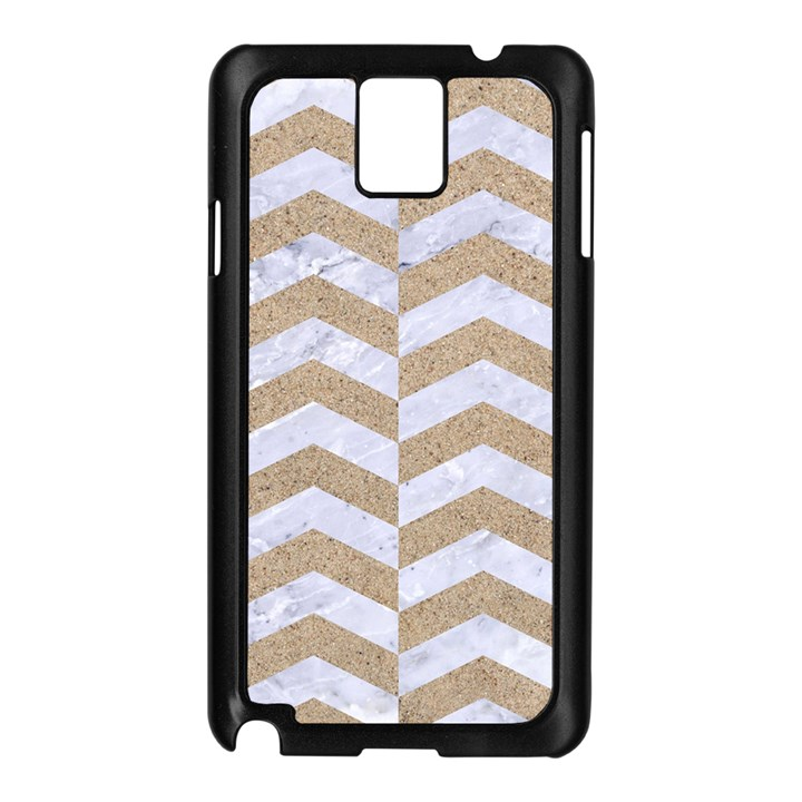 CHEVRON2 WHITE MARBLE & SAND Samsung Galaxy Note 3 N9005 Case (Black)