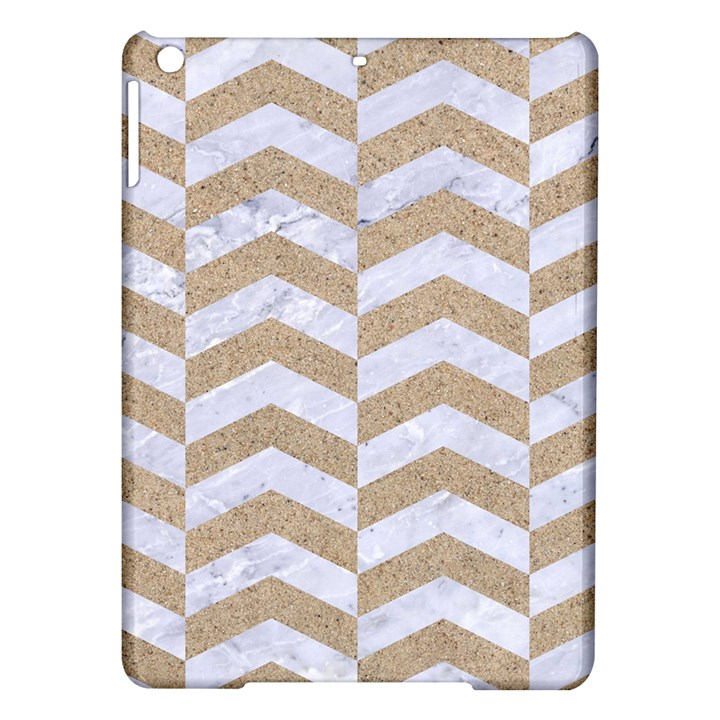 CHEVRON2 WHITE MARBLE & SAND iPad Air Hardshell Cases