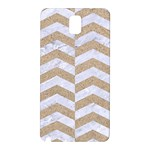 CHEVRON2 WHITE MARBLE & SAND Samsung Galaxy Note 3 N9005 Hardshell Back Case Front