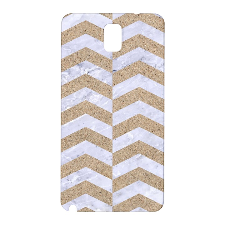 CHEVRON2 WHITE MARBLE & SAND Samsung Galaxy Note 3 N9005 Hardshell Back Case