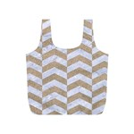 CHEVRON2 WHITE MARBLE & SAND Full Print Recycle Bags (S)  Front