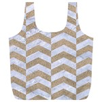 CHEVRON2 WHITE MARBLE & SAND Full Print Recycle Bags (L)  Front