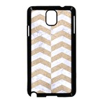 CHEVRON2 WHITE MARBLE & SAND Samsung Galaxy Note 3 Neo Hardshell Case (Black) Front
