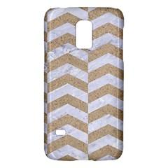 Chevron2 White Marble & Sand Galaxy S5 Mini