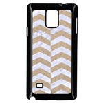 CHEVRON2 WHITE MARBLE & SAND Samsung Galaxy Note 4 Case (Black) Front