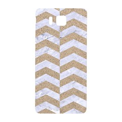 Chevron2 White Marble & Sand Samsung Galaxy Alpha Hardshell Back Case