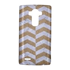 Chevron2 White Marble & Sand Lg G4 Hardshell Case