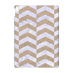 Chevron2 White Marble & Sand Apple Ipad Pro 10 5   Hardshell Case
