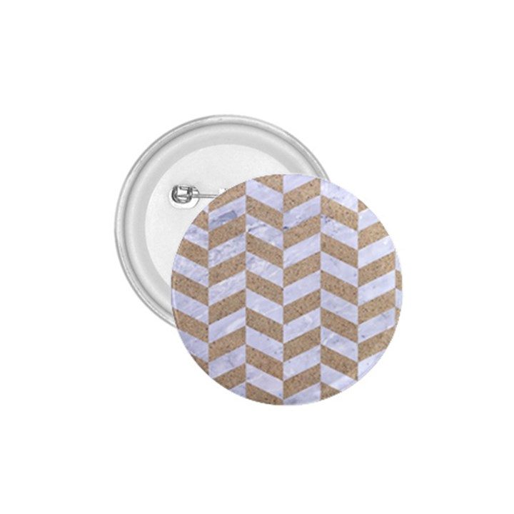 CHEVRON1 WHITE MARBLE & SAND 1.75  Buttons