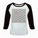 CHEVRON1 WHITE MARBLE & SAND Kids Baseball Jerseys Front