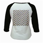 CHEVRON1 WHITE MARBLE & SAND Kids Baseball Jerseys Back