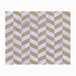 CHEVRON1 WHITE MARBLE & SAND Small Glasses Cloth Front