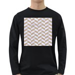 CHEVRON1 WHITE MARBLE & SAND Long Sleeve Dark T-Shirts Front