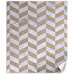 CHEVRON1 WHITE MARBLE & SAND Canvas 20  x 24   24 x20 Canvas - 1