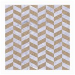 CHEVRON1 WHITE MARBLE & SAND Medium Glasses Cloth Front