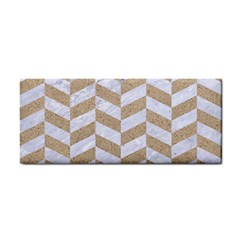 Chevron1 White Marble & Sand Cosmetic Storage Cases