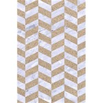 CHEVRON1 WHITE MARBLE & SAND 5.5  x 8.5  Notebooks Front Cover