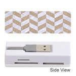 CHEVRON1 WHITE MARBLE & SAND Memory Card Reader (Stick)  Front
