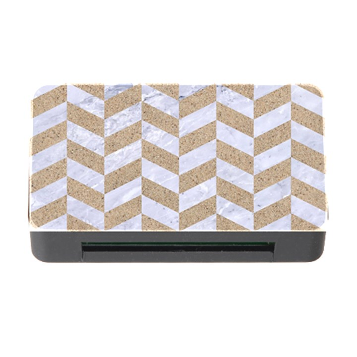CHEVRON1 WHITE MARBLE & SAND Memory Card Reader with CF