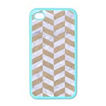 CHEVRON1 WHITE MARBLE & SAND Apple iPhone 4 Case (Color) Front