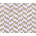 CHEVRON1 WHITE MARBLE & SAND Deluxe Canvas 14  x 11  14  x 11  x 1.5  Stretched Canvas