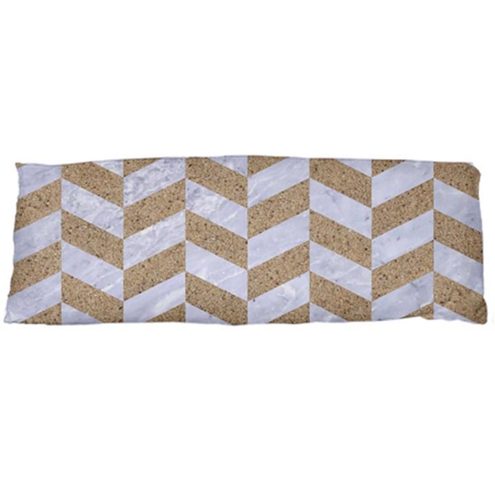 CHEVRON1 WHITE MARBLE & SAND Body Pillow Case Dakimakura (Two Sides)
