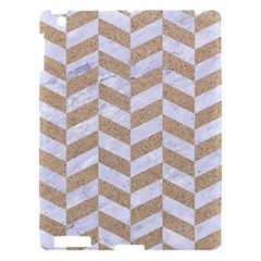 Chevron1 White Marble & Sand Apple Ipad 3/4 Hardshell Case