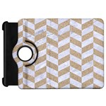 CHEVRON1 WHITE MARBLE & SAND Kindle Fire HD 7  Front
