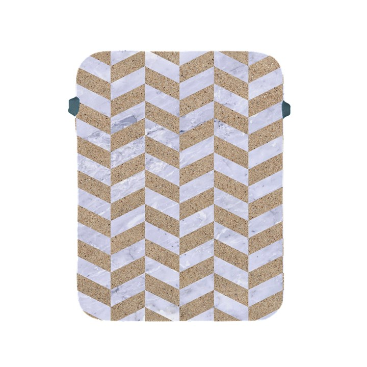 CHEVRON1 WHITE MARBLE & SAND Apple iPad 2/3/4 Protective Soft Cases