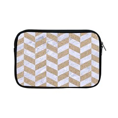 Chevron1 White Marble & Sand Apple Ipad Mini Zipper Cases