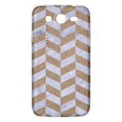 Chevron1 White Marble & Sand Samsung Galaxy Mega 5 8 I9152 Hardshell Case
