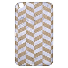 Chevron1 White Marble & Sand Samsung Galaxy Tab 3 (8 ) T3100 Hardshell Case