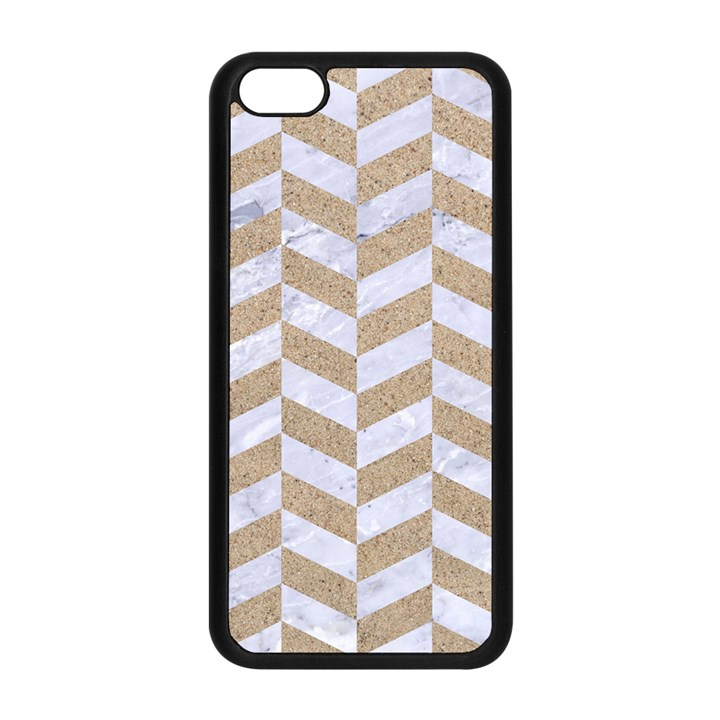 CHEVRON1 WHITE MARBLE & SAND Apple iPhone 5C Seamless Case (Black)