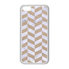 Chevron1 White Marble & Sand Apple Iphone 5c Seamless Case (white)