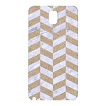 CHEVRON1 WHITE MARBLE & SAND Samsung Galaxy Note 3 N9005 Hardshell Back Case Front