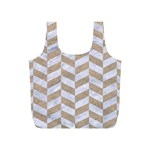 CHEVRON1 WHITE MARBLE & SAND Full Print Recycle Bags (S)  Front