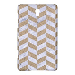 Chevron1 White Marble & Sand Samsung Galaxy Tab S (8 4 ) Hardshell Case