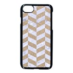 CHEVRON1 WHITE MARBLE & SAND Apple iPhone 7 Seamless Case (Black) Front